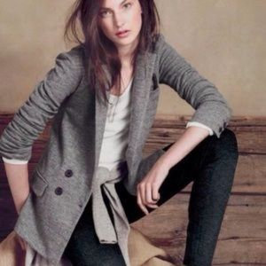 J. Crew Wool Gray Benny Blazer Sweater